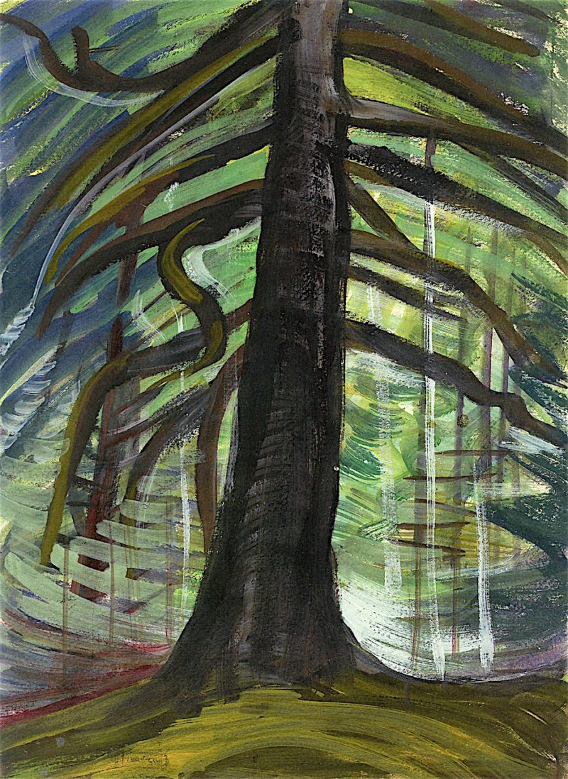 Dead Tree in the Forest | Emily Carr | oil painting
