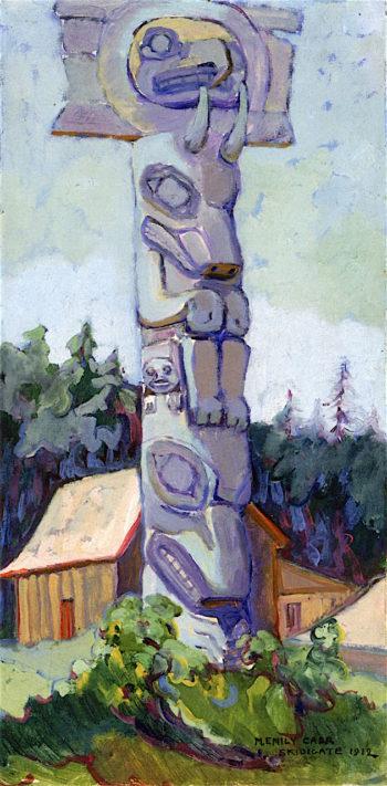 Skidegate | Emily Carr | oil painting