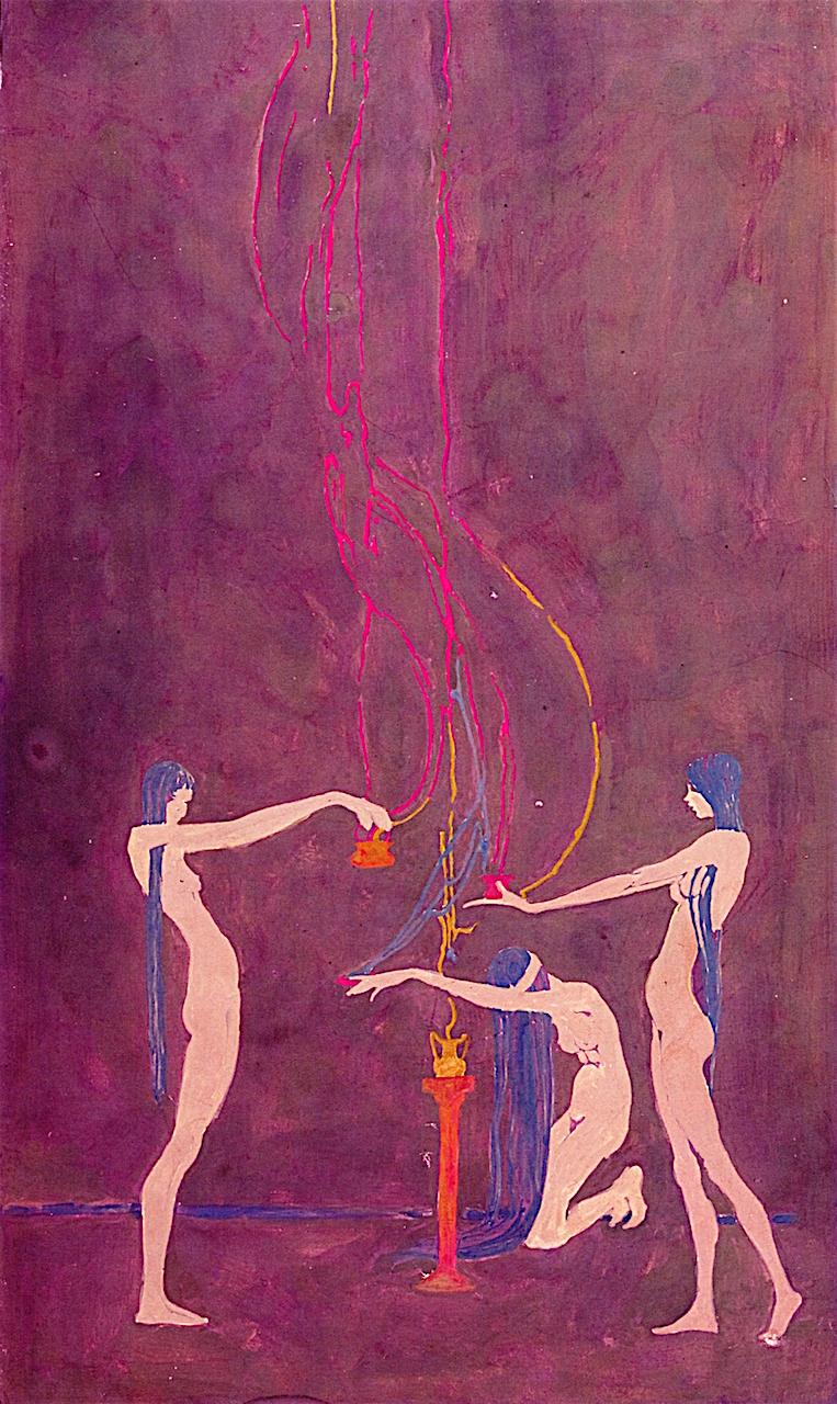 Incense   Wanda Gag   oil painting