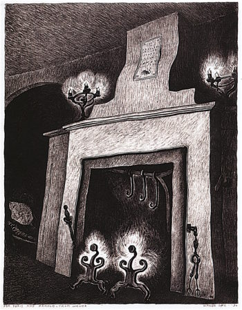 Fireplace | Wanda Gag | oil painting