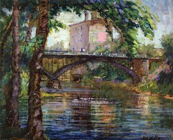 Bridge at Anoka | Ada Augusta Wolfe | oil painting