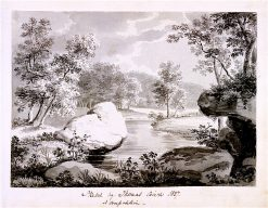 Landscape with a River   Thomas Birch   oil painting