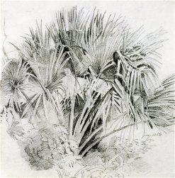 Palms   William Trost Richards   oil painting