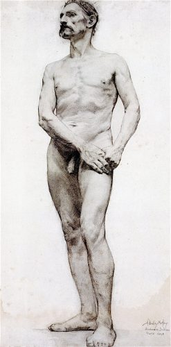 Standing Male Nude | Hermann Dudley Murphy | oil painting