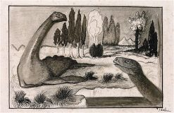 Primeval World | Alfred Kubin | oil painting