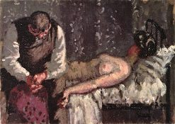 What Shall We Do about the Rent | Walter Richard Sickert | oil painting