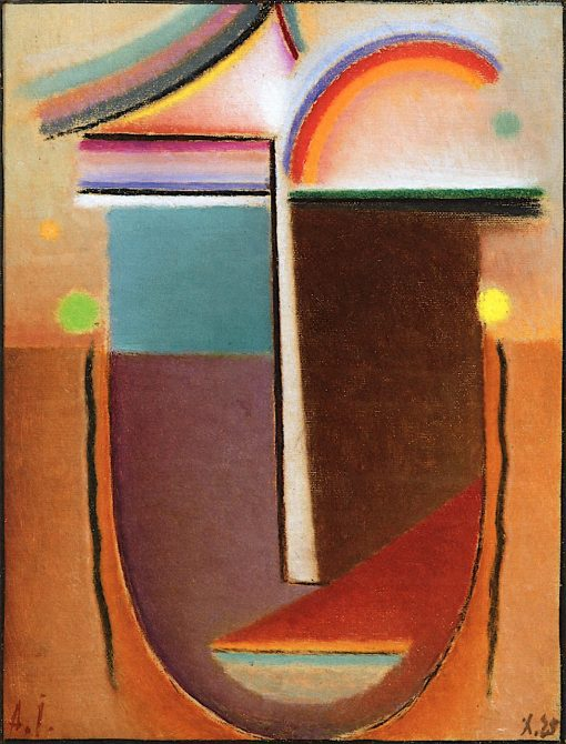Abstract Head -  Arabian Fairy Tale | Alexei von Jawlensky | oil painting
