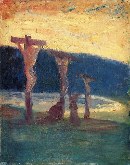 Christ on the Cross   Harald Oskar Sohlberg   oil painting
