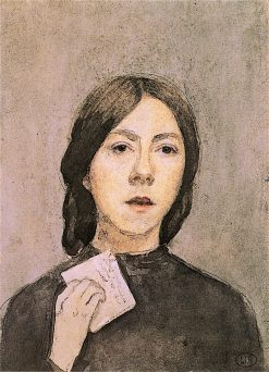 Self - Portrait with Letter | Gwen John | oil painting