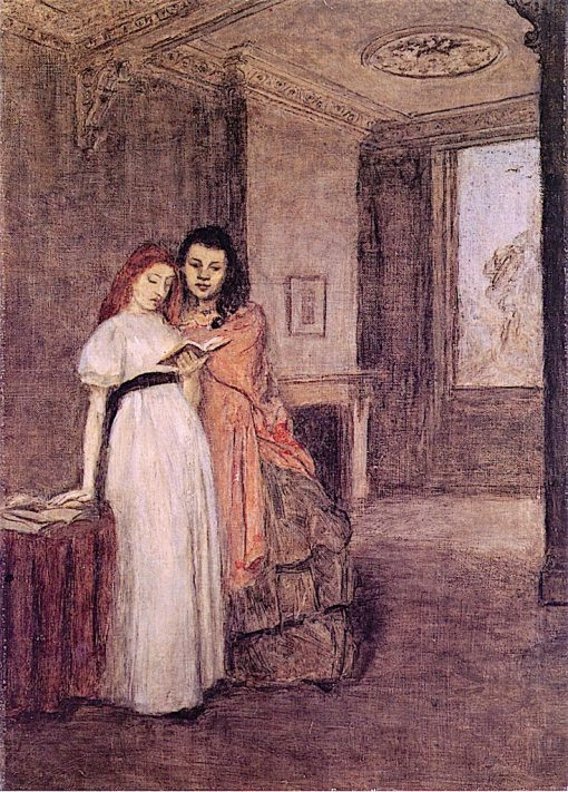 Interior with Figures | Gwen John | oil painting