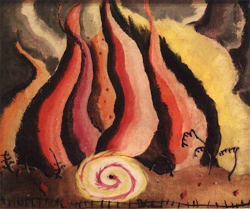 Fire in the Sauerkraut Factory | Arthur Dove | oil painting