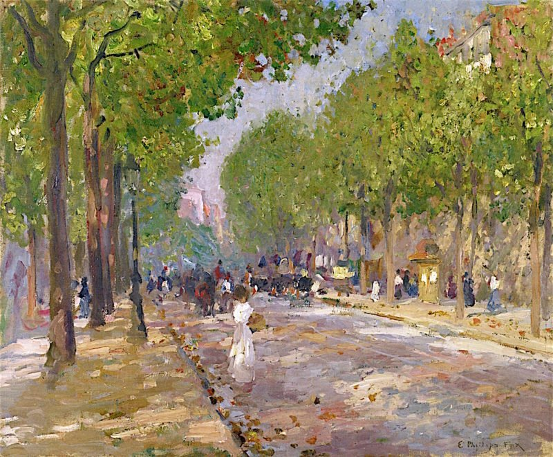 Rue Royale | Emanuel Phillips Fox | oil painting