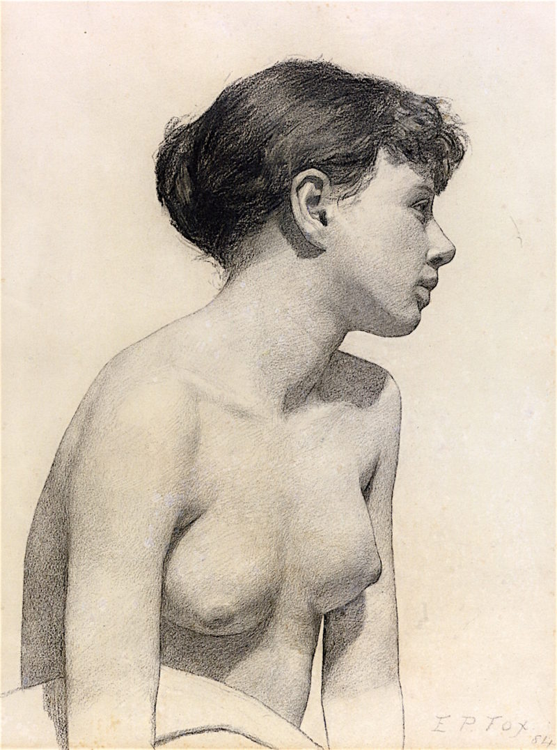 Nude Study   Emanuel Phillips Fox   oil painting