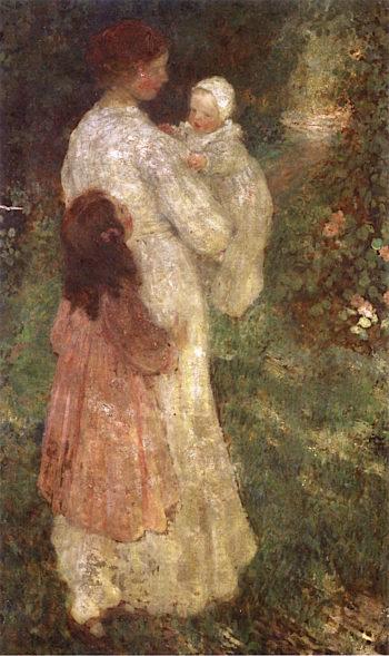 Motherhood | Emanuel Phillips Fox | oil painting