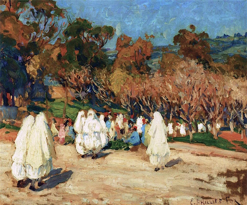 Moslems in Procession | Emanuel Phillips Fox | oil painting