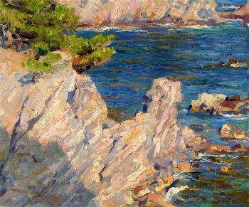 Rocks and Sea | Emanuel Phillips Fox | oil painting