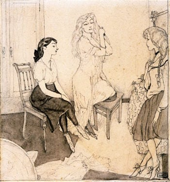 Three Girls in a Room | Jules Pascin | oil painting
