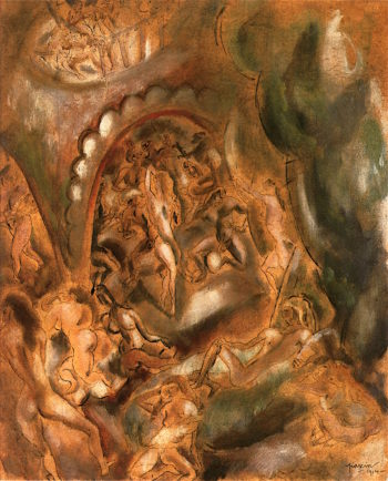 The Harem   Jules Pascin   oil painting