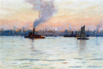Evening on the Hudson | Charles Warren Eaton | oil painting