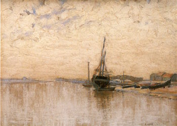River Scene | Charles Augustus Lasar | oil painting