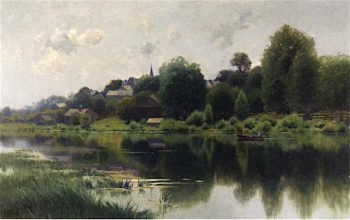 Boating on a Waterway | Charles Harry Eaton | oil painting