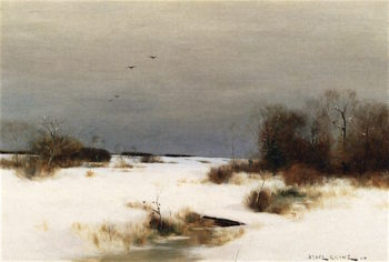 Winter Mood | Bruce Crane | oil painting