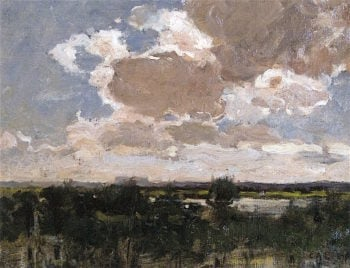 Afternoon Clouds | Charles Adams Platt | oil painting