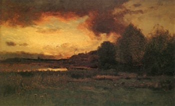 Sunset after a Storm | Charles Harry Eaton | oil painting