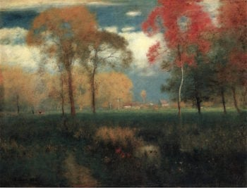 Sunny Autumn Day | George Inness | oil painting