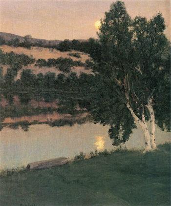 Moonlight Birches | Ben Foster | oil painting