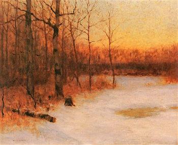 Winter Solitude | Bruce Crane | oil painting
