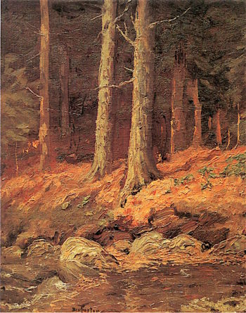 Brook in the Woods | Ben Foster | oil painting