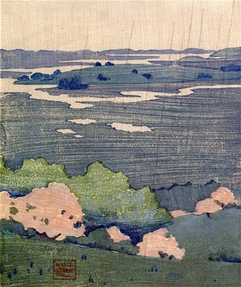 Rain in May | Arthur Wesley Dow | oil painting