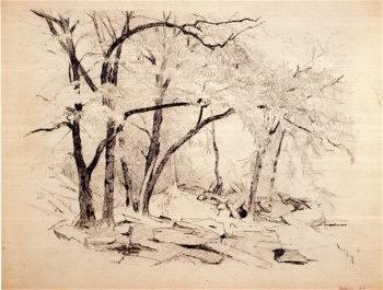 Woodland Scene | Jervis McEntee | oil painting