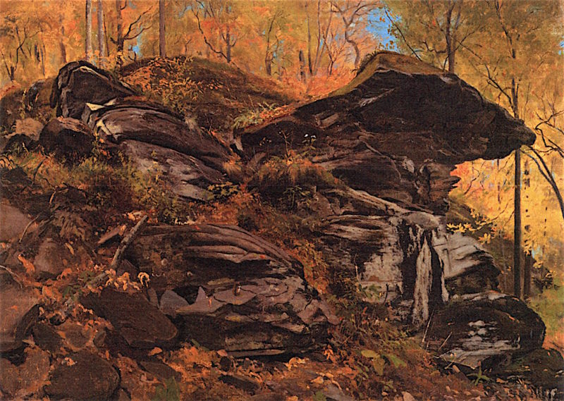 Rocks at the Corner | Jervis McEntee | oil painting