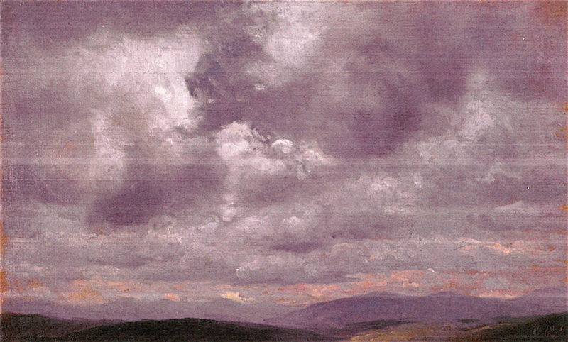 Clouds | Jervis McEntee | oil painting