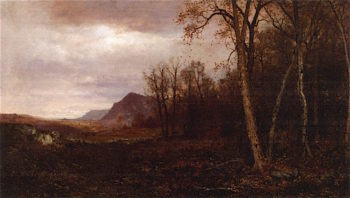 Over the Hills and Far Away | Jervis McEntee | oil painting