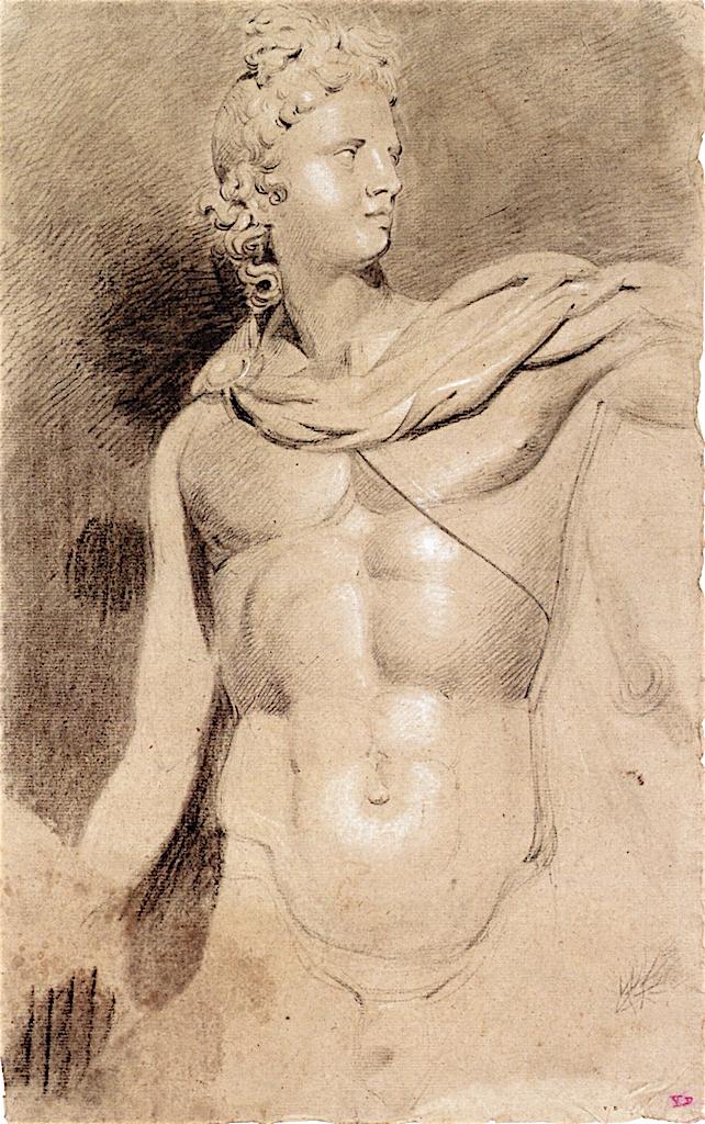 Torso and Head of the Apollo Belvedere   Joseph Mallord William Turner   oil painting
