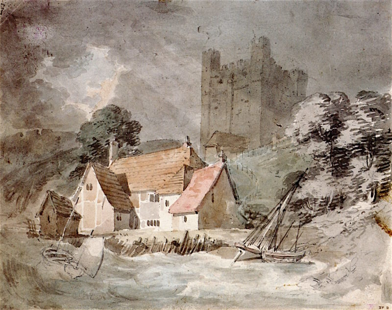 Rochester Castle from the River Medway | Joseph Mallord William Turner | oil painting