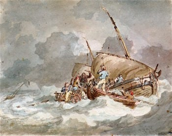 Sailors Getting Pigs on board in a Gale | Joseph Mallord William Turner | oil painting