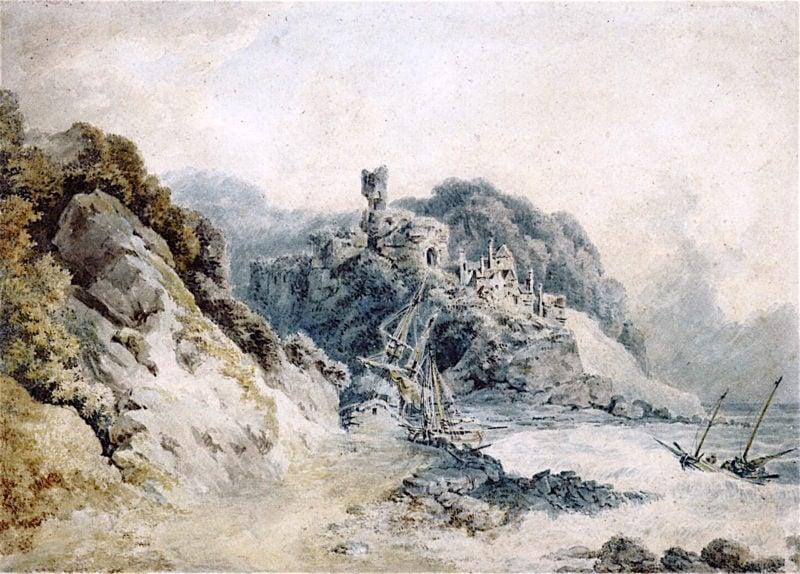 A Shipwreck on a Rocky Coastline