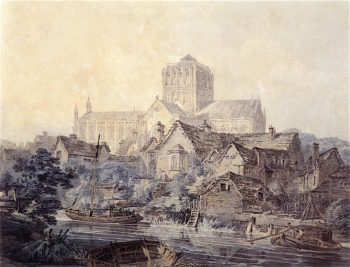 Hereford Cathedral | Joseph Mallord William Turner | oil painting