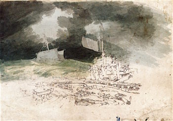 Storm off Dover | Joseph Mallord William Turner | oil painting