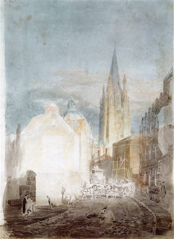 St Marys Church and the Radcliffe Camera from Oriel Lane | Joseph Mallord William Turner | oil painting