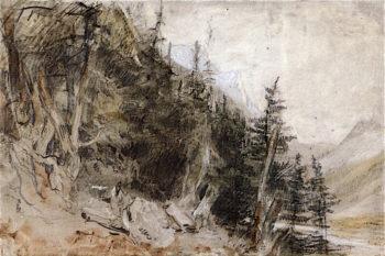 Chamoni Mr Blanc | Joseph Mallord William Turner | oil painting