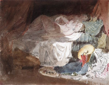 A Couple in Bed | Joseph Mallord William Turner | oil painting