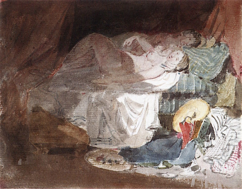 A Couple in Bed   Joseph Mallord William Turner   oil painting