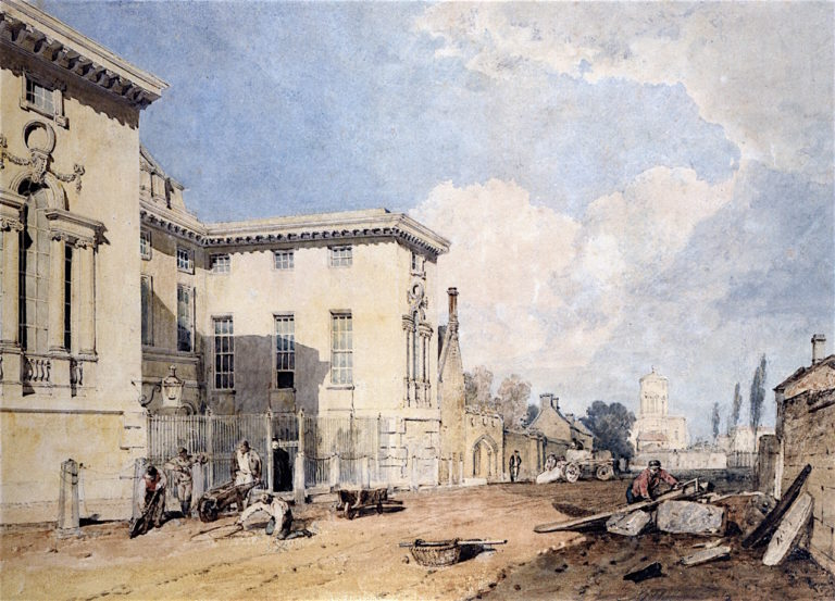 A View of Worcester College | Joseph Mallord William Turner | oil painting
