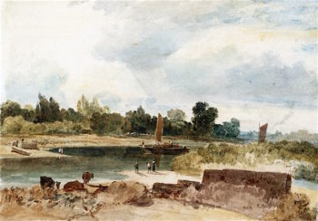 The River Thames with Isleworth Ferry | Joseph Mallord William Turner | oil painting