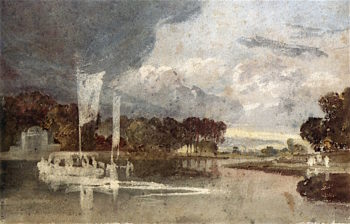 The Syon Ferry with the Syon Park Pavilion in the Background | Joseph Mallord William Turner | oil painting
